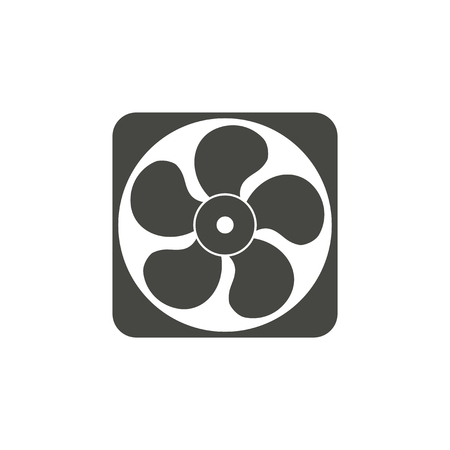 aeration: Exhaust fan - vector icon in black on a white background.