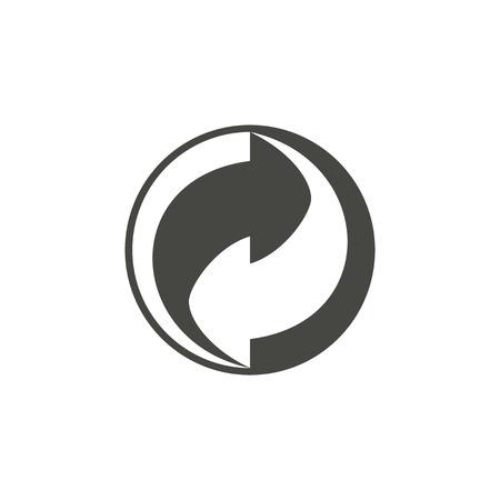 reciclar: Reciclaje - icono del vector en negro sobre un fondo blanco.