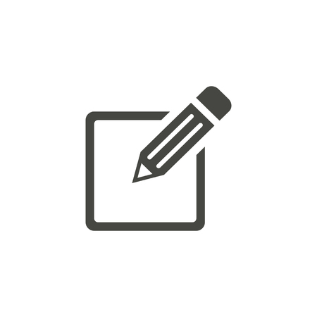 Registration - vector icon in black on a white background.