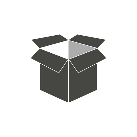 stockpile: Box - vector icon in black on a white background. Illustration