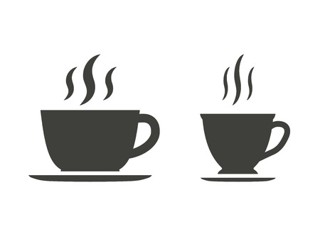 coffee cup vector: Coffee cup - vector icons in black on a white background.