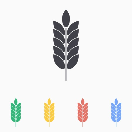 dietary fiber: barley  icon - vector icon in black on a white background. Illustration