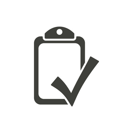 filling folder: Checklist - vector icon in black on a white background.
