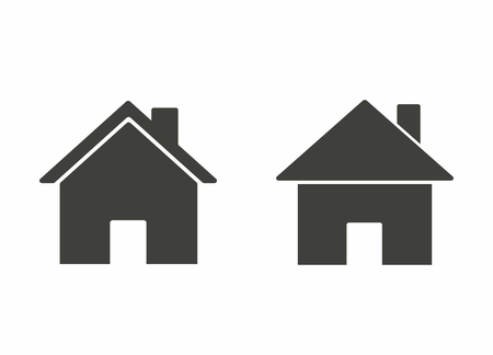 abode: Home - vector icon in black on a white background.