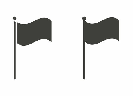 flagpole: Flag - vector icon in black on a white background.