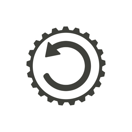 Reload - vector icon in black on a white background.