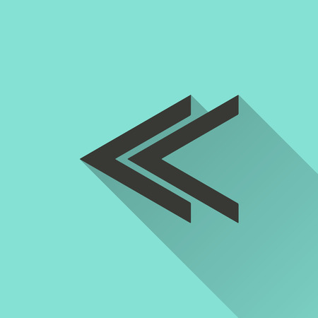 cerulean: Arrow - vector icon in black on a green background. Illustration