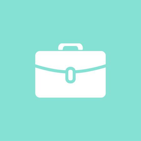 portfolio icon: Portfolio  icon  on green background. Vector illustration.