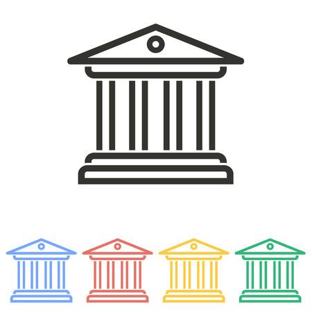 tribunal: Court  icon  on white background. Vector illustration.