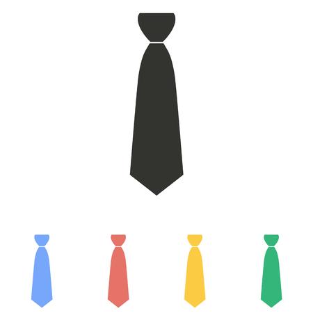 Necktie  icon  on white background. Vector illustration. Illustration
