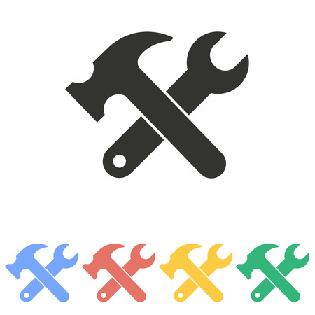 werkzeug: Werkzeug-Symbol auf wei�em Hintergrund. Vektor-Illustration.