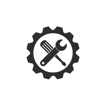 白い背景の上のツール アイコン。ベクトルの図。