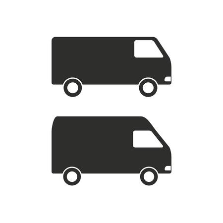 minibus: Minibus  icon  on white background. Vector illustration. Illustration
