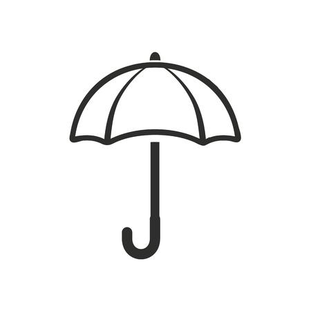brolly: Umbrella  icon  on white background. Vector illustration.
