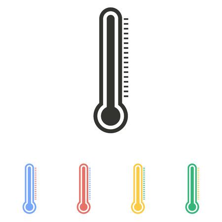 mercury: Mercury thermometer  icon  on white background. Vector illustration. Illustration