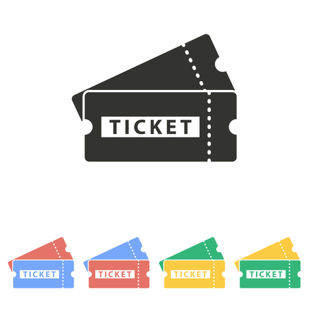 ticket icon: Ticket  icon  on white background. Vector illustration.