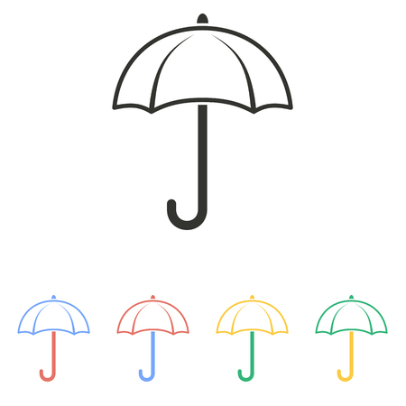 brolly: Umbrella  icon  on white background. Vector illustration.