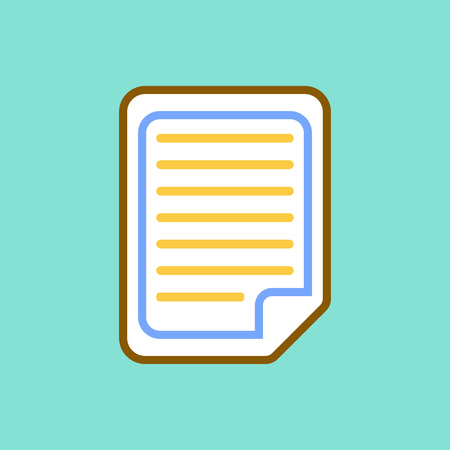 Document  icon on green background. Vector illustration. Illustration