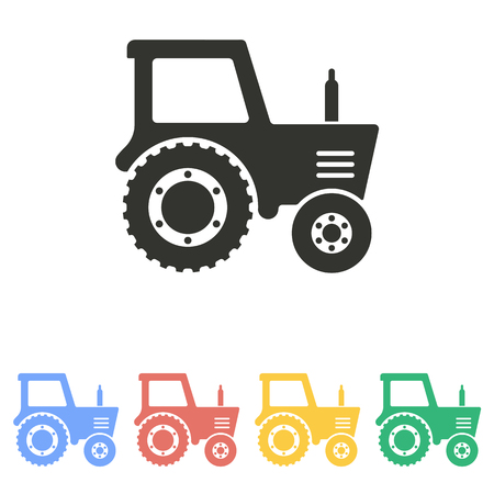 tractor in field: Tractor  icon  on white background. Vector illustration. Illustration