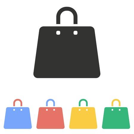 shopping bag icon: Shopping bag  icon  on white background. Illustration