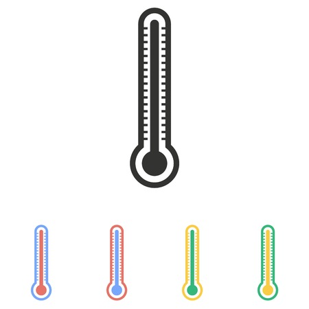 mercury: Mercury thermometer  icon  on white background.