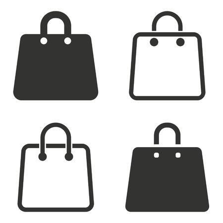 bag icon: Shopping bag  icon  on white background.