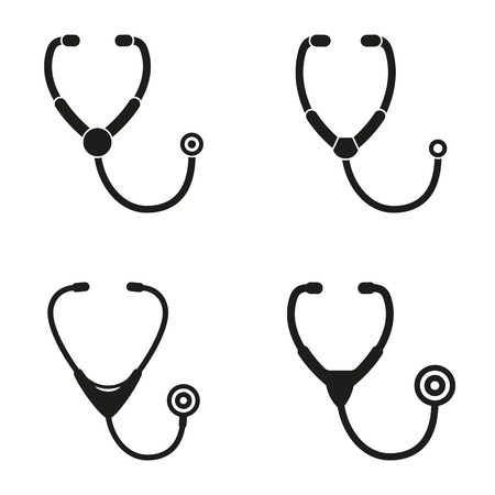stethoscope icon: Stethoscope  icon  on white background.
