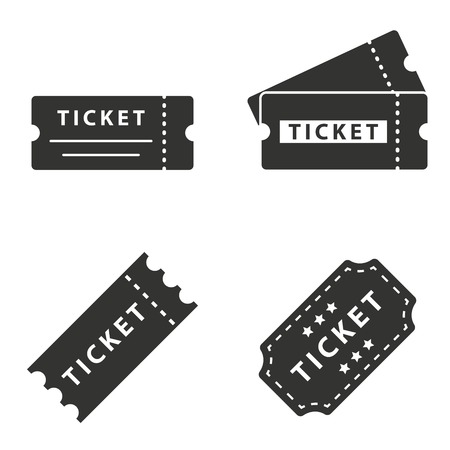 tickets: Ticket  icon  on white background. Vector illustration.