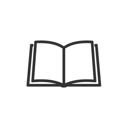 Book  icon  on white background. Vector illustration. Çizim