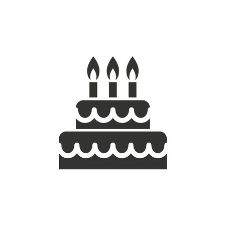 Cake Icon On White Background Vector Illustration Royalty Free