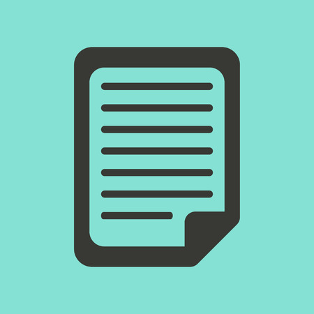 documents: Document  icon  on green background. Vector illustration.