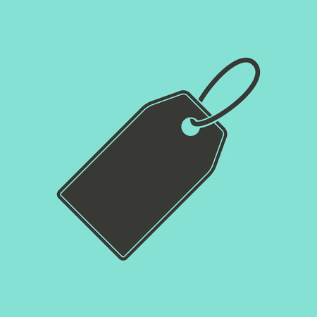 Price tag  icon  on green background. Vector illustration.
