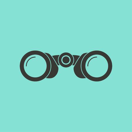 spectator: Binocular  icon  on green background. Vector illustration. Illustration