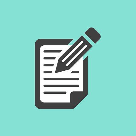 registration: Registration  icon  on green background. Vector illustration.