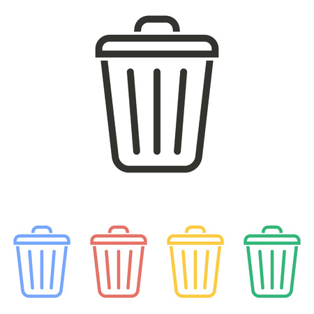 trash can: Trash can  icon  on white background. Vector illustration. Illustration