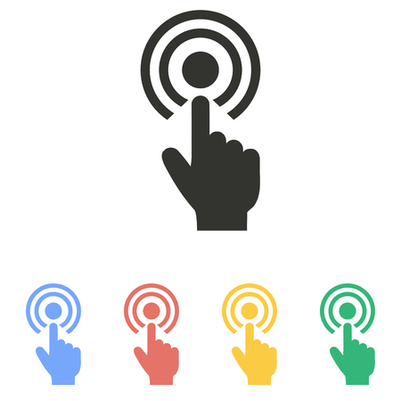 Touch   icon  on white background. Vector illustration. Stock Illustratie