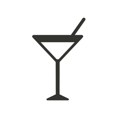 Cocktail  icon  on white background. Vector illustration. Vettoriali