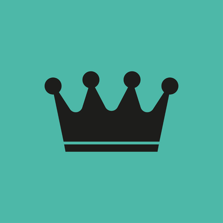 empty sign: Crown  icon  on green background. Vector illustration. Illustration