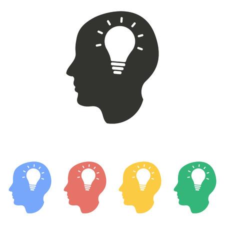 brain illustration: Brain  icon  on white background. Vector illustration. Illustration