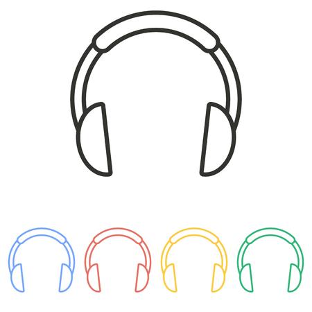 dj headphones: Headphone   icon  on white background. Vector illustration. Illustration