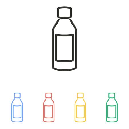 bottle of medicine: Medicine bottle  icon  on white background. Vector illustration.