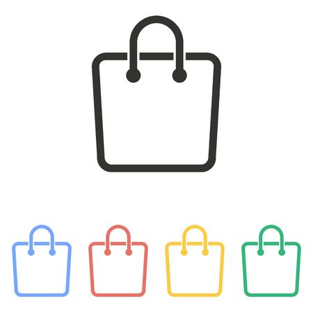 bag icon: Shopping bag  icon  on white background. Vector illustration.