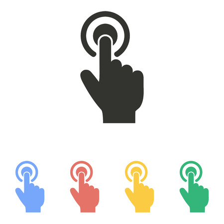 Touch   icon  on white background. Vector illustration. Illustration