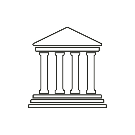 courts: Court  icon  on white background. Vector illustration.