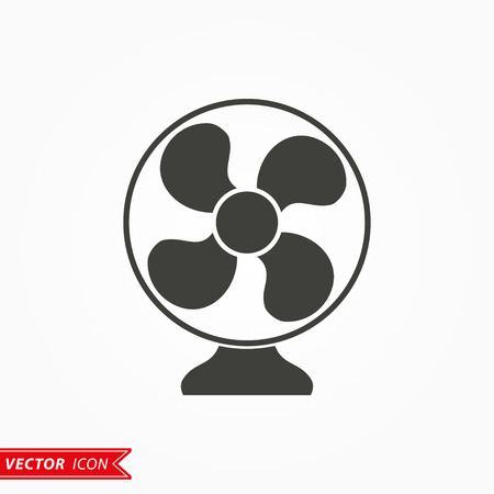 aeration: Fan  icon  on white background. Vector illustration.
