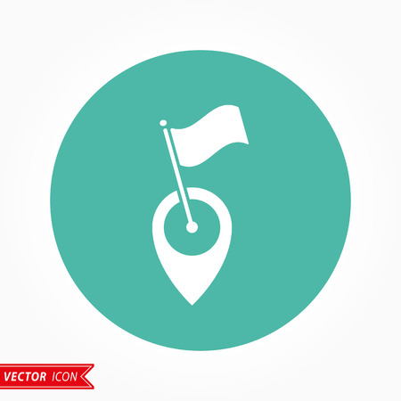map pin: Map pin  icon  on green background. Vector illustration. Illustration