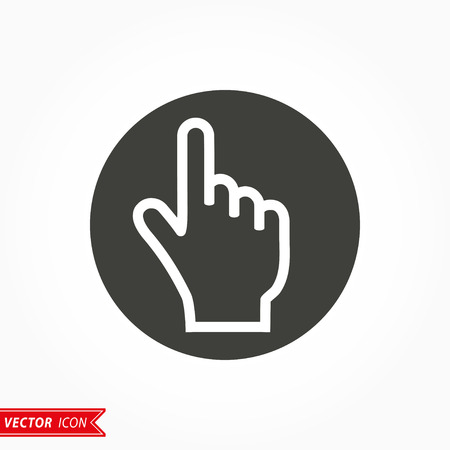 depress: Hand   icon  on white background. Vector illustration.