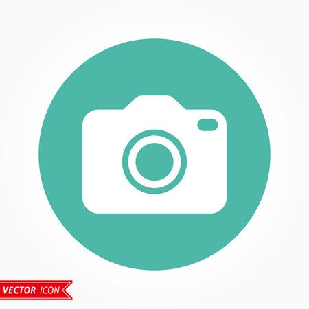 photo icon: Photo  icon  on green background. Vector illustration.