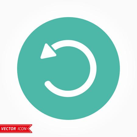 revise: Reload  icon  on green background. Vector illustration. Illustration