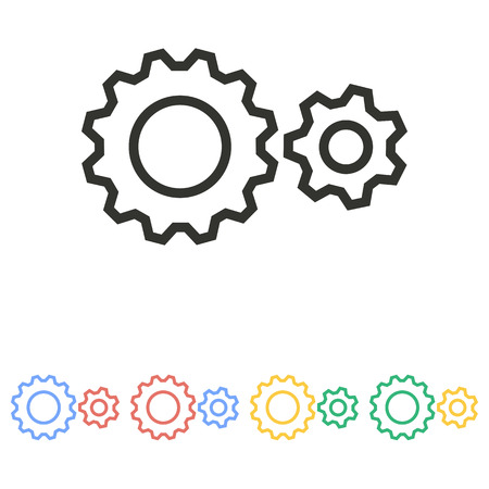 gear icon: Gear  icon  on white background. Vector illustration. Illustration